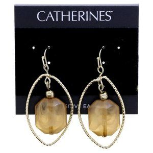 Catherines gold & stone dangle fashion earrings